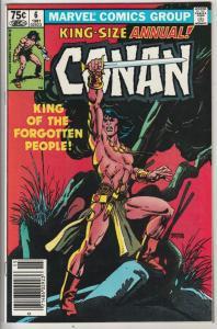 Conan the Barbarian King-Size #6 (Jan-81) NM+ Super-High-Grade Conan the Barb...