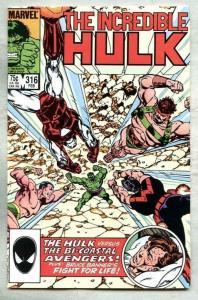 HULK #316, VF/NM, Incredible, John Byrne, 1968 1986, more Marvel in store