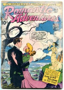 Romantic Adventures #5 1949-- ghost cover-early romance comic-LOW GRADE