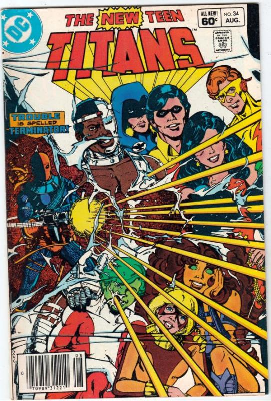 Teen Titans, the New #34 (Aug-83) VF+ High-Grade Changling, Cyborg, Speedy, R...