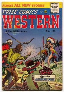 Prize Comics Western  #112 1955- American Eagle VG-