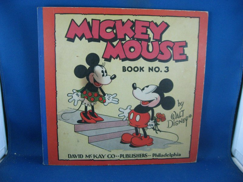 MICKEY MOUSE BOOK 3 F+ scarce 1933 FULL COLOR