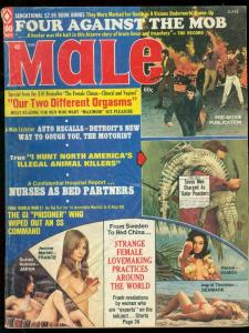 MALE JUNE 1973-GATOR POACHER-NAZI-MAFIA CRIME-HOT NURSE G/VG