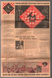 Tom Mix Ralston Straight Shooter News #1 1937-premiums-pix-info-VG
