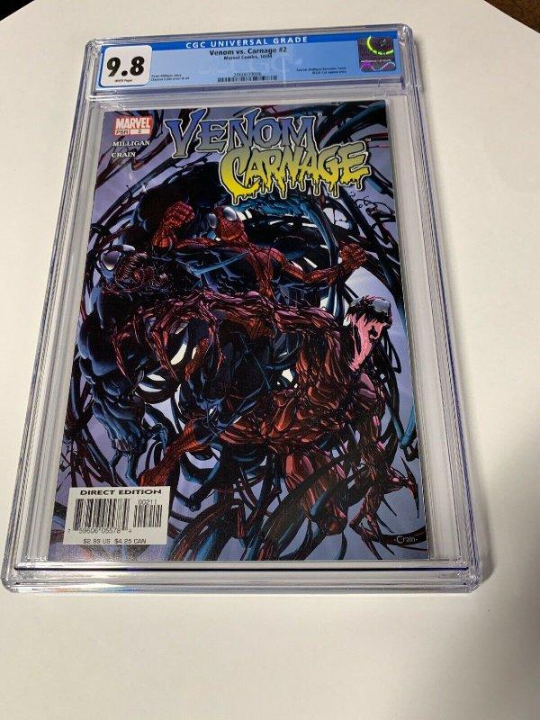 Venom Vs Versus Carnage #2 CGC 9.8 graded 1st appearance Of Toxin