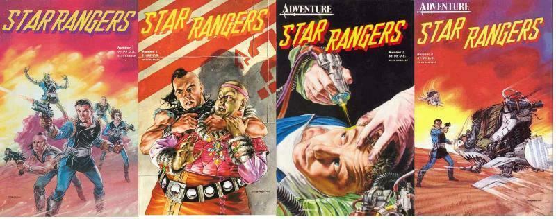 STAR RANGERS (1987 AD) 1-4  Dave Dorman  COMPLETE!