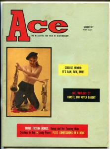 Ace Magazine August 1958- Tempest Storm- Leonard Bishop VG
