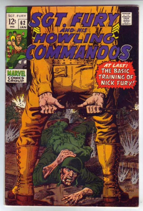 Sgt. Fury and His Howling Commandos #62 (Jan-69) FN+ Mid-High-Grade Sgt. Fury...