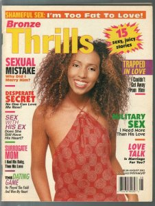 Bronze Thrills 8/2001-African American interest-ghost love-exploitation-VF