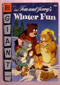 TOM AND JERRY'S WINTER FUN #4 1955- M-G-M CARTOON COMIC VG