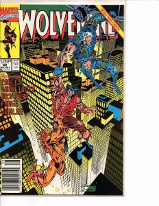 Marvel Comics Wolverine #42 Marc Silvestri NM Sabretooth Cable 1st print