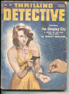 Thrilling Detective-Fall 1952-Good Girl Art cover-Marty Holland-hardboiled pu...