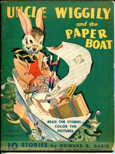 Uncle Wiggly and The Paper Boat #1021 1943-Howard A Garis-VF