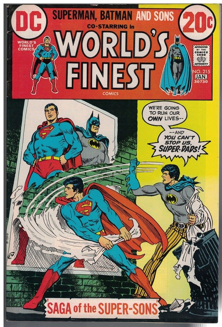 WORLDS FINEST 215 VG F Jan 1973 Batman Supes Jr HipComic