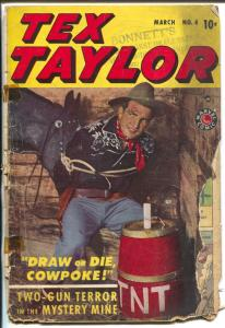 Tex Taylor #4 1948-Marvel-Blaze Carson-anti Dr Wertham editorial-P/FR