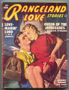 Rangeland Love Stories Pulp January 1951- Love Makin Lobo