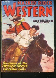 MASKED RIDER WESTERN 1951 JAN-THRILLING PULP VG
