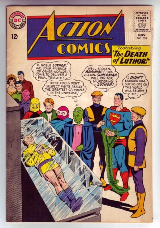 Action Comics #318 (Nov-64) FN/VF- Mid-High-Grade Superman, Supergirl