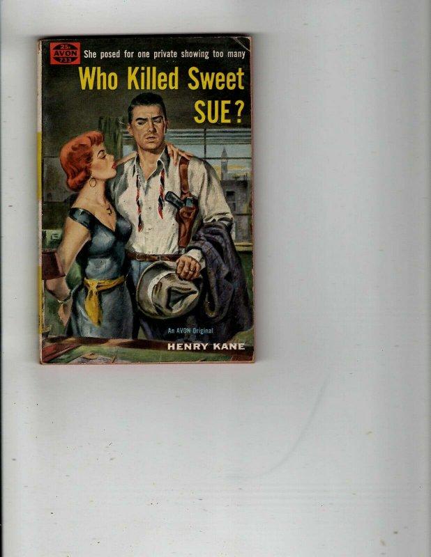 3 Books A Gentle Murderer Who Killed Sweet Sue? Kiss Me, Deadly Mystery JK34