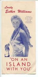 Esther Williams On An Island With You 1948-FL promotional travel brochure-VG