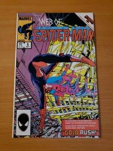 Web of Spider-Man #6 Direct Market Edition ~ NEAR MINT NM ~ (1985 Marvel Comic)