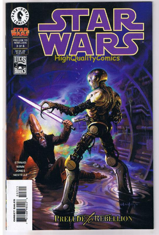 STAR WARS #3, NM+, Prelude to Rebellion, Jan Strnad, 1998, more SW in store