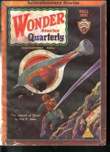 WONDER STORIES QUARTERLY 1931 FALL-FRANK R PAUL ART G