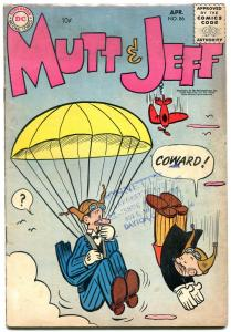 Mutt & Jeff #86 1956-DC Humore Silver Age-Parachute cover- VG