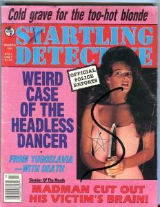 STARTLING DETECTIVE-03/91-COLD GRAVE-HEADLESS DANCER-VICTIM'S BRAIN-GD/VG G/VG