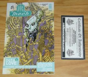 NYC Mech: Beta Love #1 VF/NM signed by ivan brandon & andy macdonald - with COA