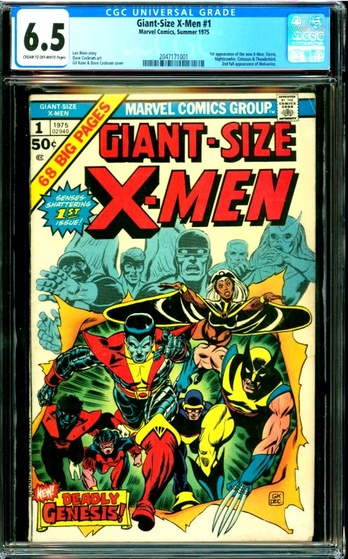 Giant-Size X-Men #1 CGC Graded 6.5 1st appearance of the new X-Men, Storm, Ni...