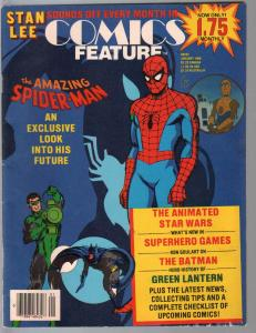 Comics Feature #40 1/1986-Spider-man-Stan Lee-Batman-Green Lantern-FN