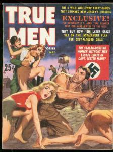 True Men Magazine May 1962- Nazi cover- Bambi Brown- Nun Whipping art