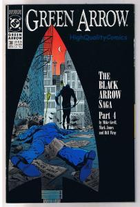 GREEN ARROW #38, NM-, Mike Grell, Black Arrow Saga, 1988, Bill Wray