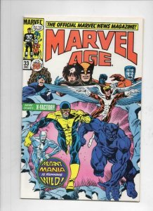 MARVEL AGE #33, VF+, X-Factor, Wolverine, 1985 more in store