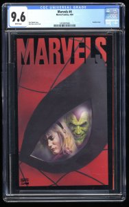 Marvels #4 CGC NM+ 9.6 White Pages
