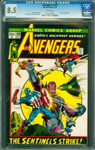 Avengers #103 CGC Graded 8.5 Sentinels appearance.