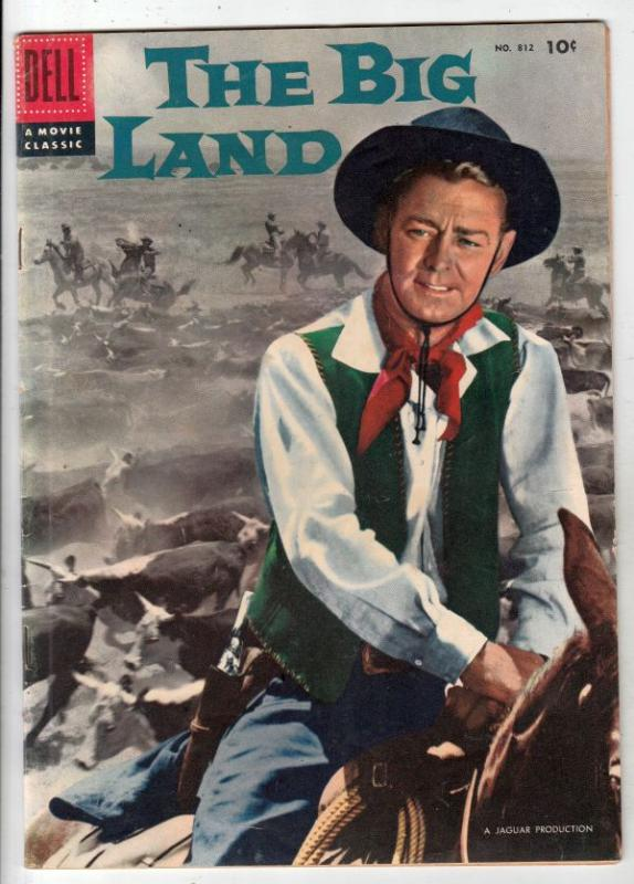 Four Color #812 (Jul-57) FN/VF Mid-High-Grade Alan Ladd as Chad Morgan