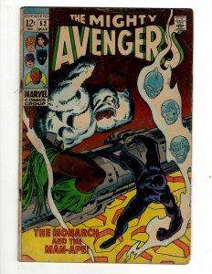 Avengers # 62 VG Marvel Comic Book Hulk Thor Captain America Iron Man OF2