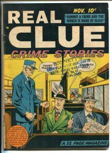 REAL CLUE VOL 3 #9 1948-HILLMAN-PRE-CODE CRIME-VIOLENCE-vg