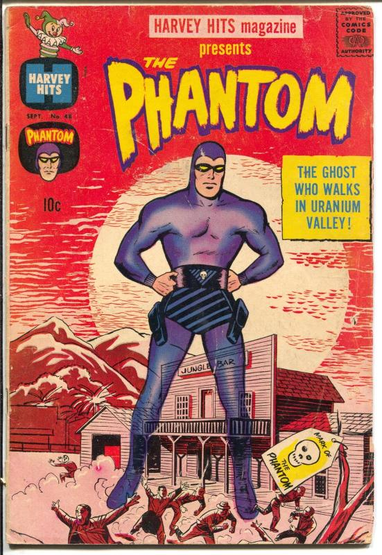 Harvey Hits #48 1961-Phantom-Ghost Who Walks-partial Kirby cover art-VG