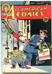 ALL-AMERICAN COMICS #60-GREEN LANTERN-ATOM-DR MIDNITE- FINE MINUS- RARE DC FN-