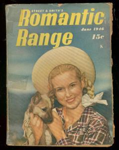 ROMANTIC RANGE JUNE 1946-DIGEST SIZE PULP-PHOTO COVER G