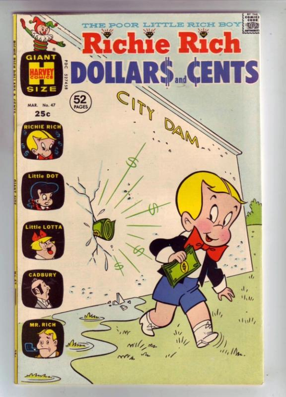 Richie Rich Dollars and Cents #47 (Mar-72) NM Super-High-Grade Richie Rich