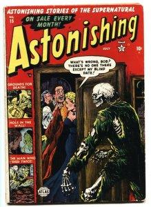 Astonishing #15 PCH 1952- Skeleton cover- Atlas Horror VG