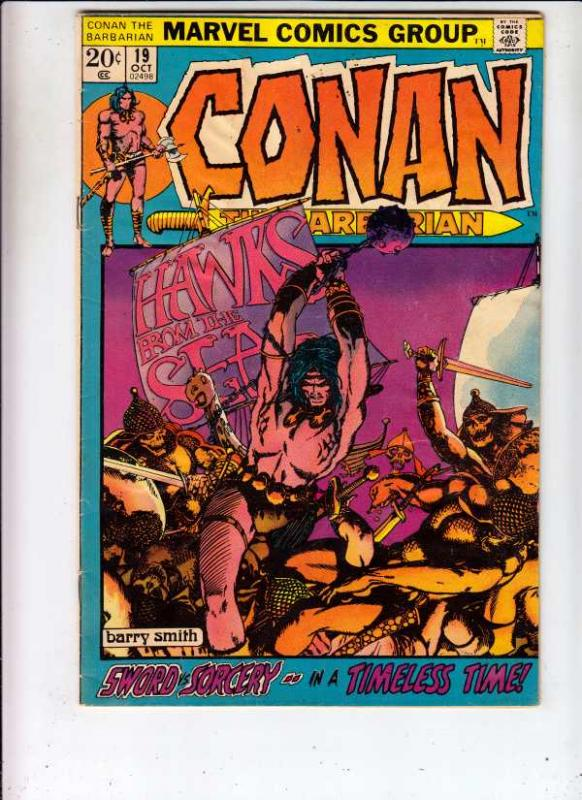 Conan the Barbarian #19 (Oct-72) VF+ Mid-Grade Conan the Barbarian