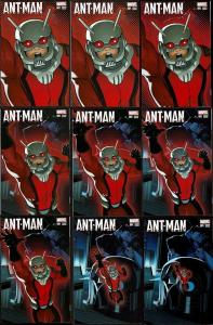 Lot of 9: Ant-Man #1 (2015)  Incredible Shrinking Cover Variants All NM