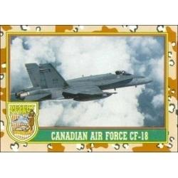 1991 Topps Desert Storm CANADIAN AIR FORCE CF-18 #17