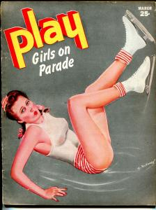 rPlay Girls On Parade 3/1945-cheesecake-George Janespin-up cover-VG+