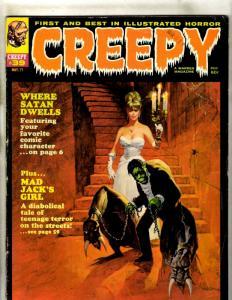Creepy Magazine # 39 FN- Warren Comic Book Horror Fear Scary Monstery Bat JK4